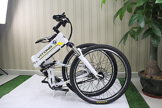 Folding Electric Bicycle folded view