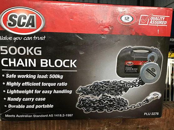 Chain Block 500Kg for sale