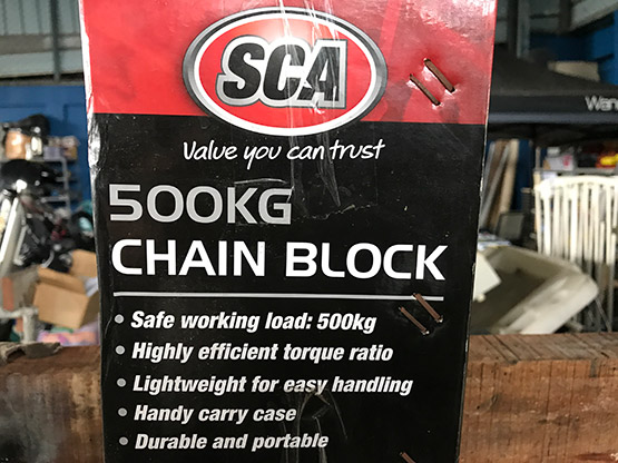 Chain Block 500Kg package detail