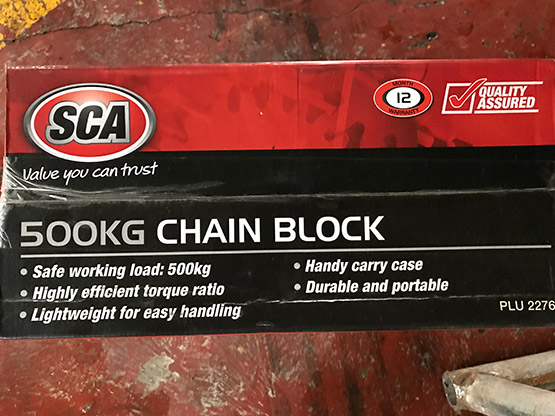 Chain Block 500Kg package description