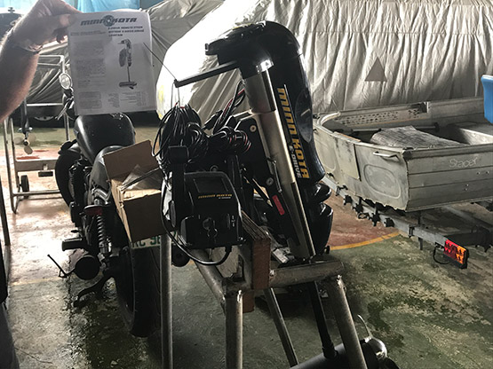 Electric Outboard Motor port view