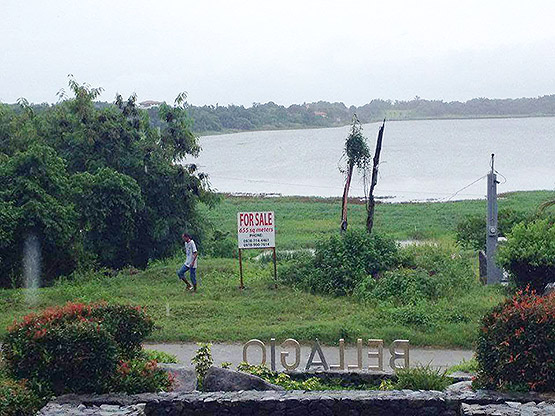 Paoay Lake lot full view
