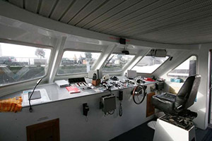Charter Catamaran 58FT navigation station