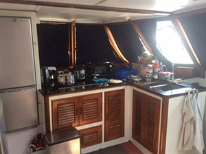 expedition sailing yacht full galley