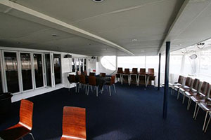 sailing catamaran 72 entertainment area