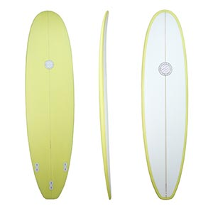 Bullets Malibu Longboard yellow trim