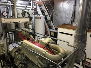Watson 72 Expedition Motor Yacht engine room